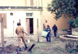 Lavori alle ex lavanderie di Villa Henderson, foto di archivio.