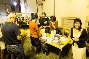 Il minibanchino allestito dal GSALivornese in collaborazione con la FST, foto di L. Deravignone.