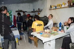 all'interno della baracca del guaglio, foto di L. Tronconi.