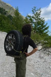 L'uomo ruota, foto di G. Dellavalle.